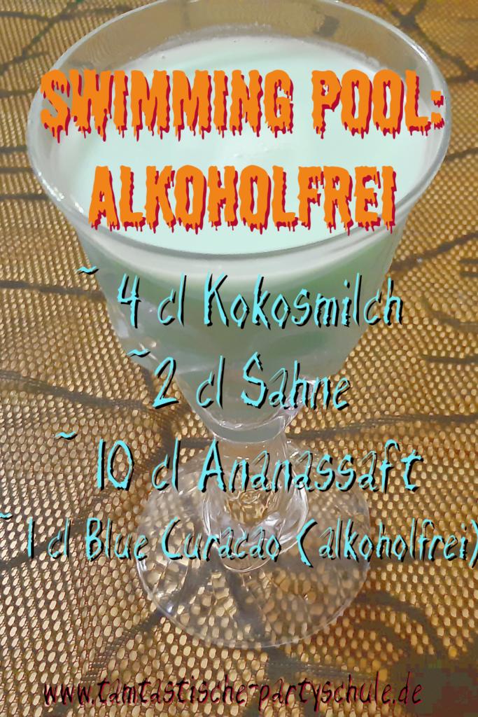 Cocktailrezept Swimming Pool alkoholfrei