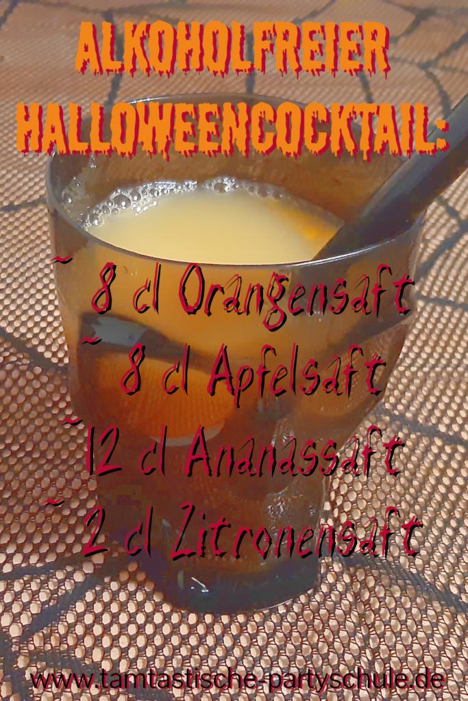 Rezept alkoholfreier Cocktail Halloween