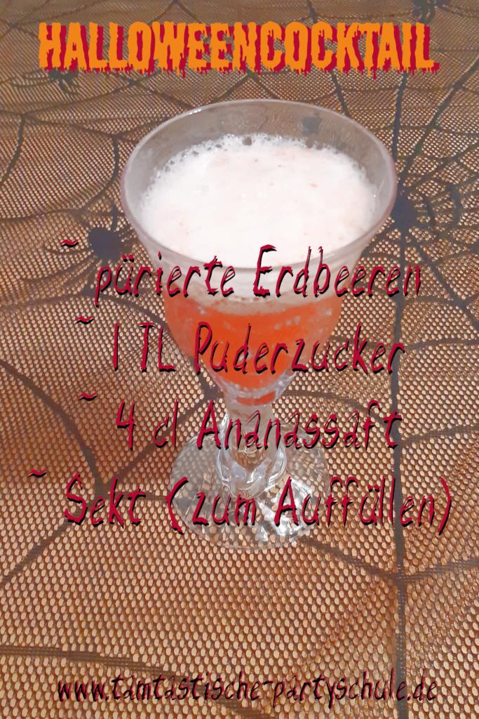 Cocktailrezept Halloween Getränk rot
