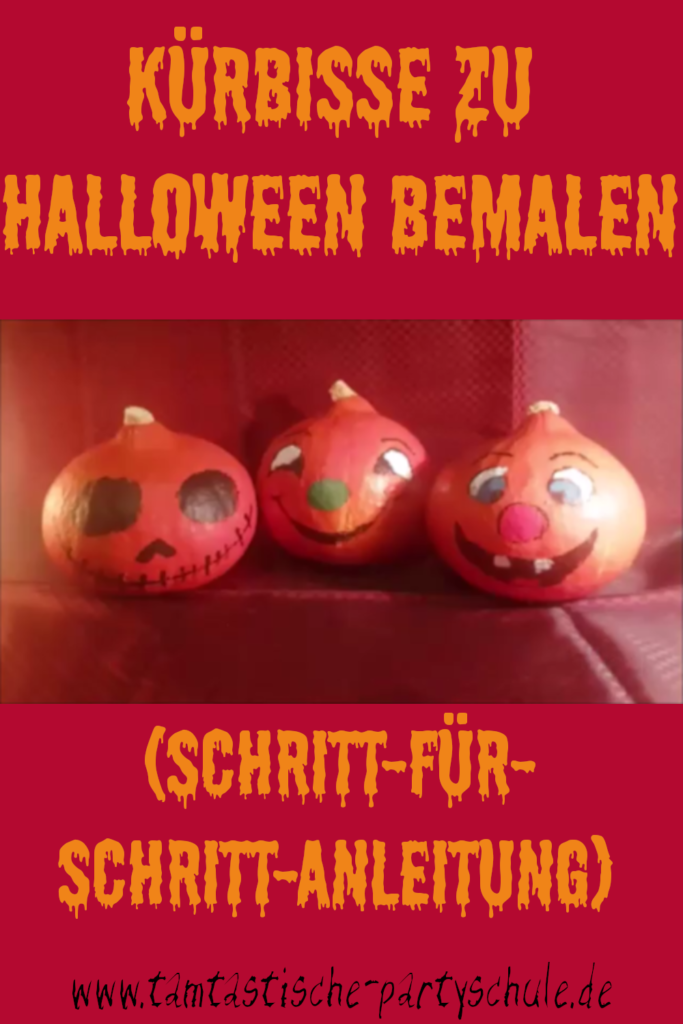 bemalte Kürbisse als Halloweendeko | Kürbisse zu Halloween bemalen (Schritt-für-Schritt-Anleitung)