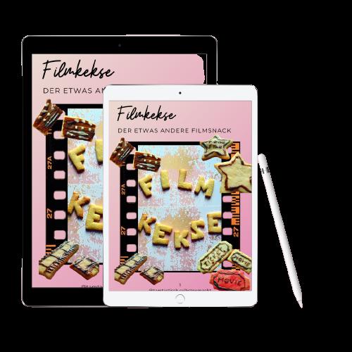 Tablet mit Cover Freebie Filmkekse
